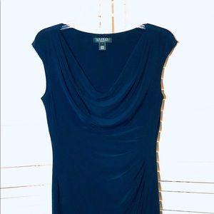 Deep sapphire blue LAUREN dress size 8